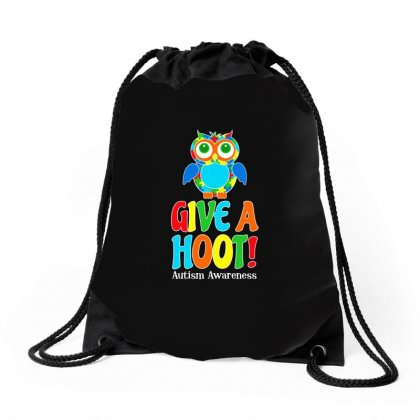 Autism Owl Give A Hoot Awareness T Shirt Drawstring Bags Designed By Hung