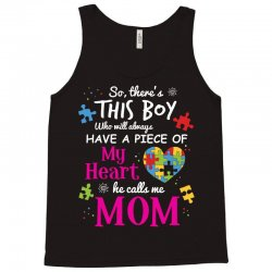autism mom have piece of my heart awareness t shirt Tank Top | Artistshot