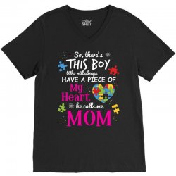 autism mom have piece of my heart awareness t shirt V-Neck Tee | Artistshot