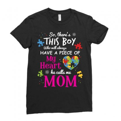 Autism Mom Have Piece Of My Heart Awareness T Shirt Ladies Fitted T-shirt Designed By Hung