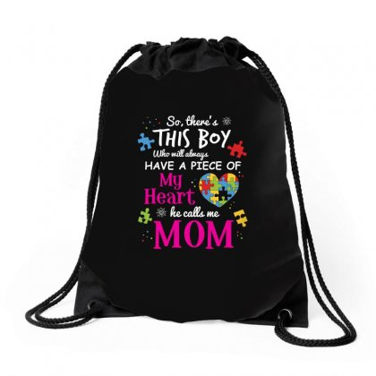 Autism Mom Have Piece Of My Heart Awareness T Shirt Drawstring Bags Designed By Hung