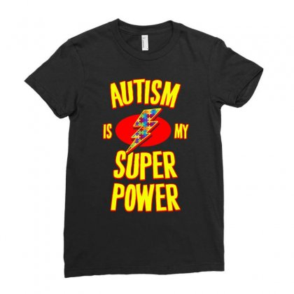 Autism Is My Super Power T Shirt Ladies Fitted T-shirt Designed By Hung