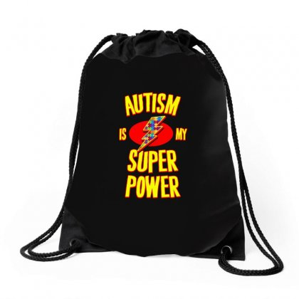 Autism Is My Super Power T Shirt Drawstring Bags Designed By Hung