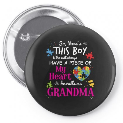 Autism Grandma Piece Of My Heart Awareness Shirt Pin-back Button Designed By Hung