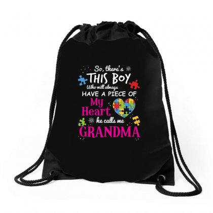 Autism Grandma Piece Of My Heart Awareness Shirt Drawstring Bags Designed By Hung