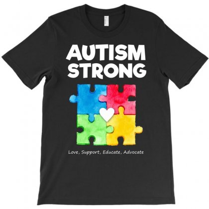 Autism Awareness Strong T Shirt T-shirt Designed By Hung