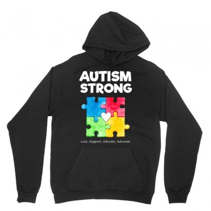Autism Awareness Strong T Shirt Unisex Hoodie Designed By Hung