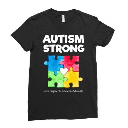 Autism Awareness Strong T Shirt Ladies Fitted T-shirt Designed By Hung