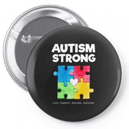 Autism Awareness Strong T Shirt Pin-back Button Designed By Hung
