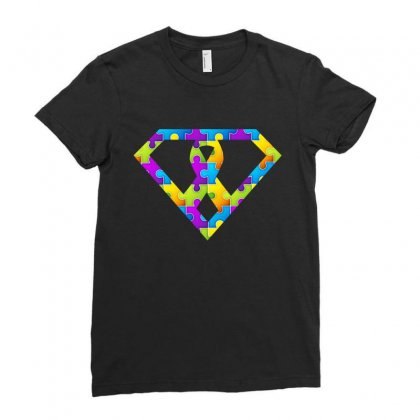 Autism Awareness Autism Logo Super Tshirt Ladies Fitted T-shirt Designed By Hung