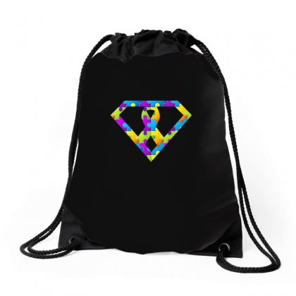 Autism Awareness Autism Logo Super Tshirt Drawstring Bags Designed By Hung