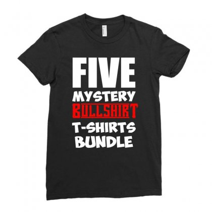 5 Mystery Bundle Funny Offensive Multibuy Ladies Fitted T-shirt Designed By H4syim