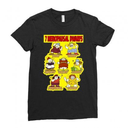 7 Menopausal Dwarfs, Ideal Gift Or Birthday Present. Ladies Fitted T-shirt Designed By H4syim