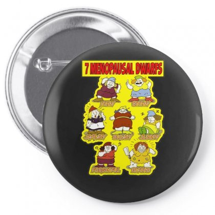 7 Menopausal Dwarfs, Ideal Gift Or Birthday Present. Pin-back Button Designed By H4syim