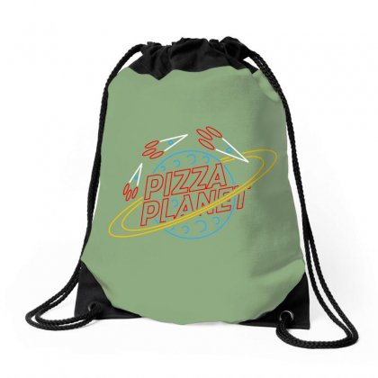 Pizza Planet Toys Merch Drawstring Bags Designed By Devanojohnsantos