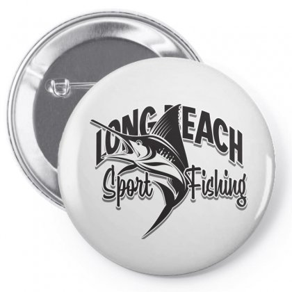 Long Beach Sport Fishing Pin-back Button Designed By Tiococacola