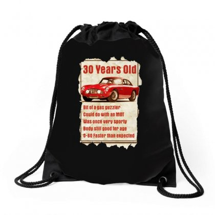 30 Year Old Aston Martin Funny Quote Ideal Birthday Gift Drawstring Bags Designed By H4syim
