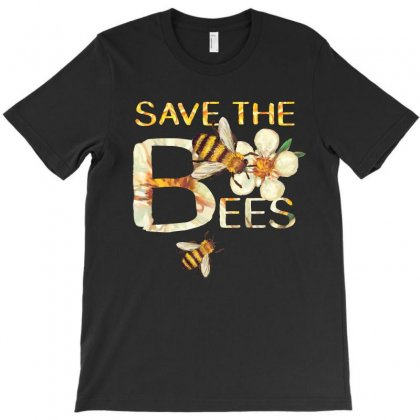 Save The Bees Funny Tshirt T-shirt Designed By Hung