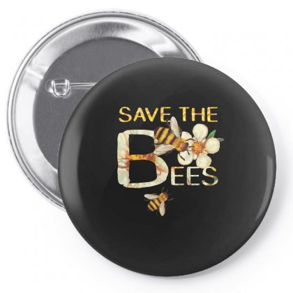 Save The Bees Funny Tshirt Pin-back Button Designed By Hung
