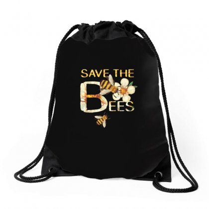 Save The Bees Funny Tshirt Drawstring Bags Designed By Hung