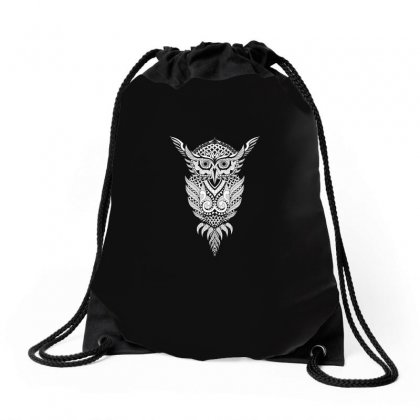 Owl Cute Animal Tree Funny T Shirt Drawstring Bags Designed By Hung