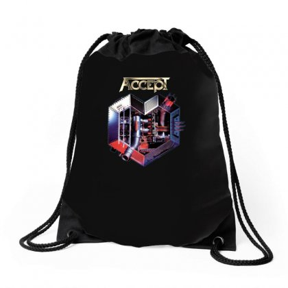 Accept Metal Heart Drawstring Bags Designed By H4syim