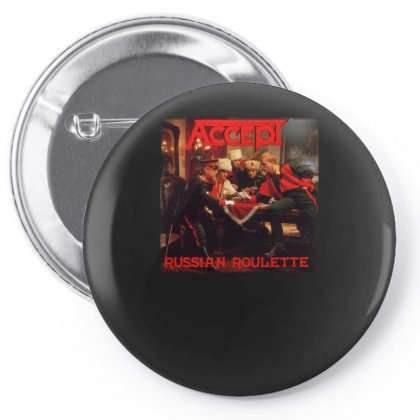 Accept Russian Roulette Pin-back Button Designed By H4syim
