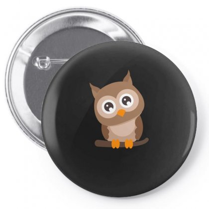 Owl Cute Animal Funny Tshirt Pin-back Button Designed By Hung