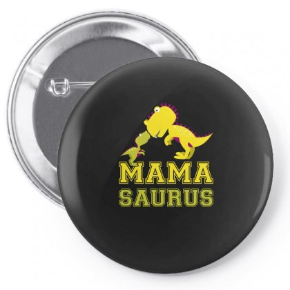 Mamasaurus Dinosaur Funny Tshirt Pin-back Button Designed By Hung