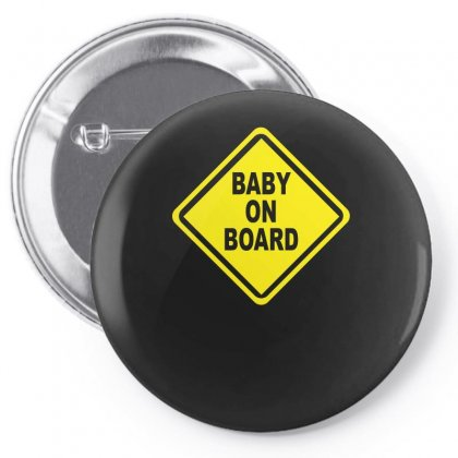 Baby On Board Bumper Sticker Decal Safety Cute Funny Pin-back Button Designed By H4syim