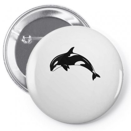 Killer Whale Orca Tshirt Pin-back Button Designed By Hung