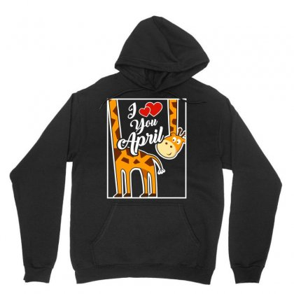 I Love April The Giraffe Funny Tshirt Unisex Hoodie Designed By Hung