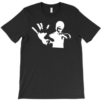 Bruce Lee Stencil Silhouette T-shirt Designed By H4syim