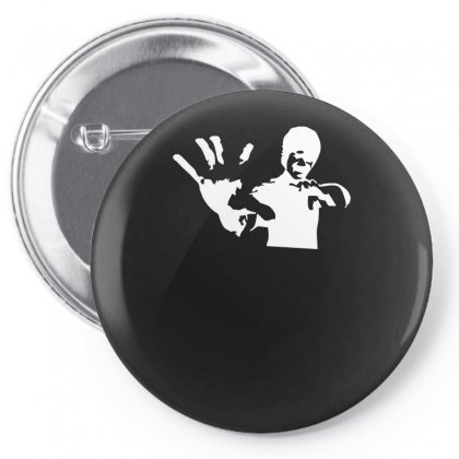 Bruce Lee Stencil Silhouette Pin-back Button Designed By H4syim