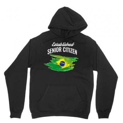 Established Senior Citizen Of Brazil Shirt Unisex Hoodie Designed By Cogentprint