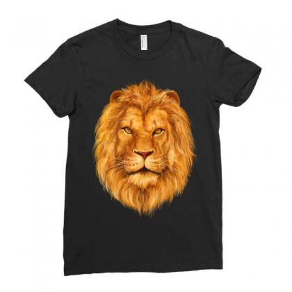King Lion Ladies Fitted T-shirt Designed By Tapan