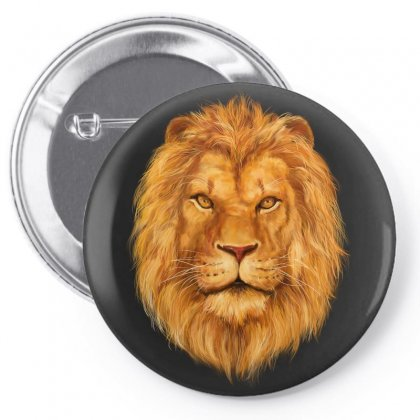 King Lion Pin-back Button Designed By Tapan