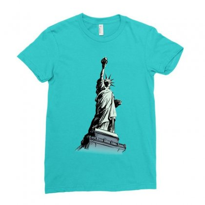 Statue Of Liberty Ladies Fitted T-shirt Designed By Tapan
