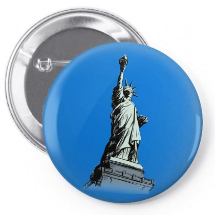 Statue Of Liberty Pin-back Button Designed By Tapan