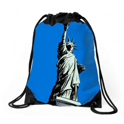 Statue Of Liberty Drawstring Bags Designed By Tapan