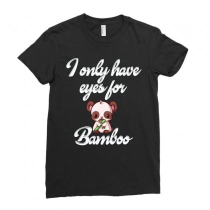 Panda Have Eyes For Bamboo Shirt Ladies Fitted T-shirt Designed By Cogentprint