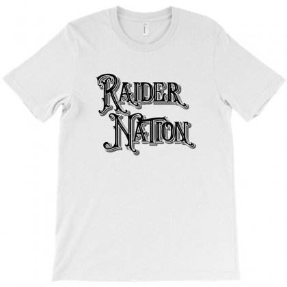 Raider Nation License Plate T-shirt Designed By Tiococacola