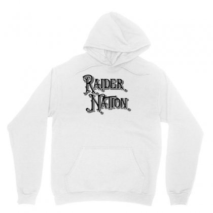 Raider Nation License Plate Unisex Hoodie Designed By Tiococacola