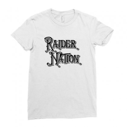 Raider Nation License Plate Ladies Fitted T-shirt Designed By Tiococacola