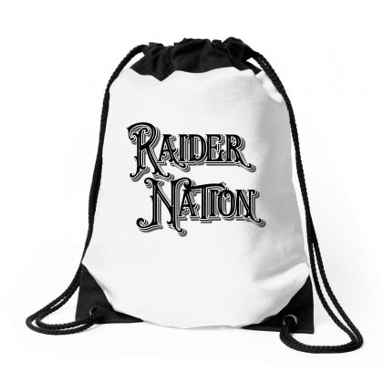 Raider Nation License Plate Drawstring Bags Designed By Tiococacola