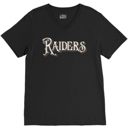 Raiders V-neck Tee Designed By Tiococacola