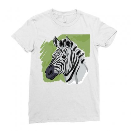 Zebra Sketch Ladies Fitted T-shirt Designed By Tapan