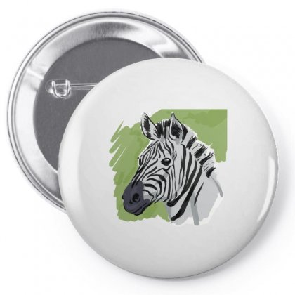 Zebra Sketch Pin-back Button Designed By Tapan