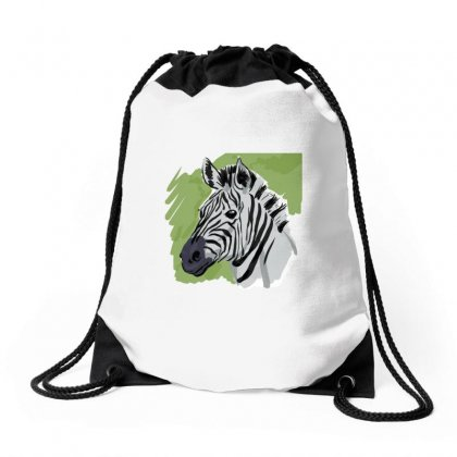 Zebra Sketch Drawstring Bags Designed By Tapan