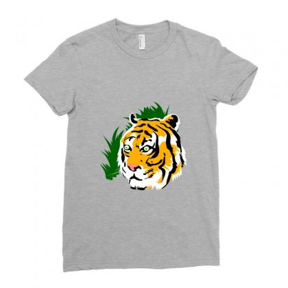 Tiger Ladies Fitted T-shirt Designed By Tapan
